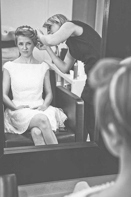 Hochzeitsfotografie Leipzig Braut Vorbereitung